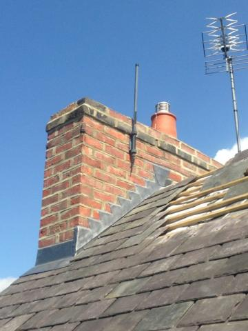 New lead flashing and repointing roofing works